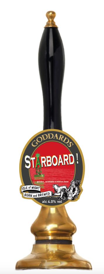 Starboard! Goddards Brewery beer pump