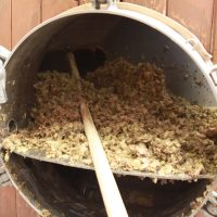 Hops at the end of the boil